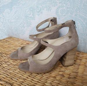 Seychelles Beige Strappy Block Heels